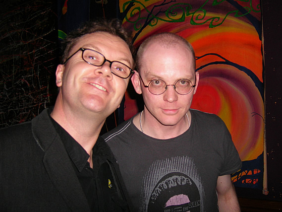 Andy with Tony Auton as he DJs at their Portsmouth gig - 18/4/08