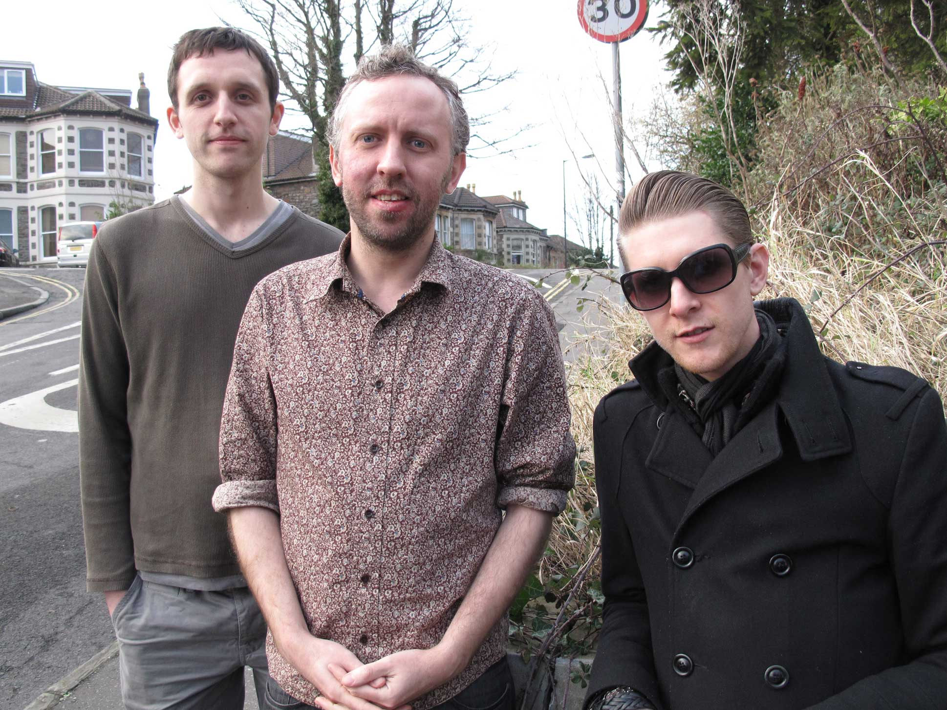 T.O.Y.S outside Rocker's studio while recording their session for his March 2013 show - 26/1/2013