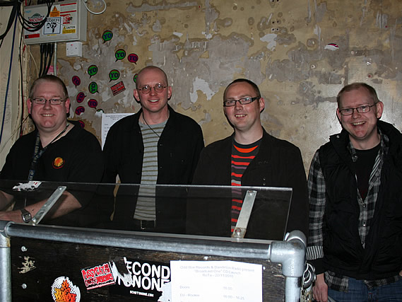 DJs hang out at the launch party for compilation CD 'Broadcast One' - 20/11/2010