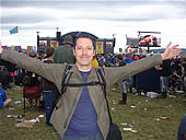 Brian enjoying T In The Park for Dubster's festival special - 13/7/08